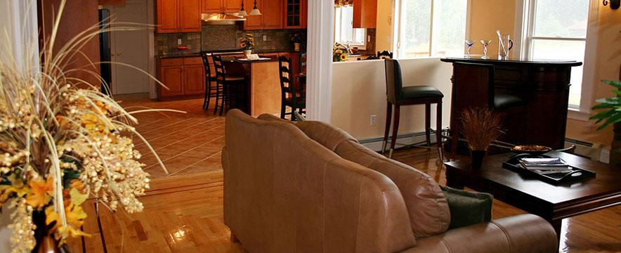 hardwood floor living